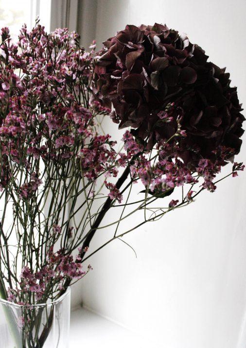 torkad hortensiabukett