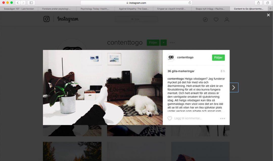 Instagram Content To Go